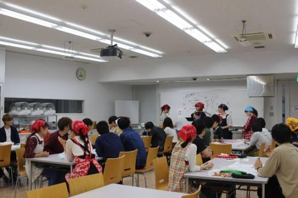 安田女子大学 料理教室①