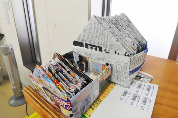 11新聞紙ハコ